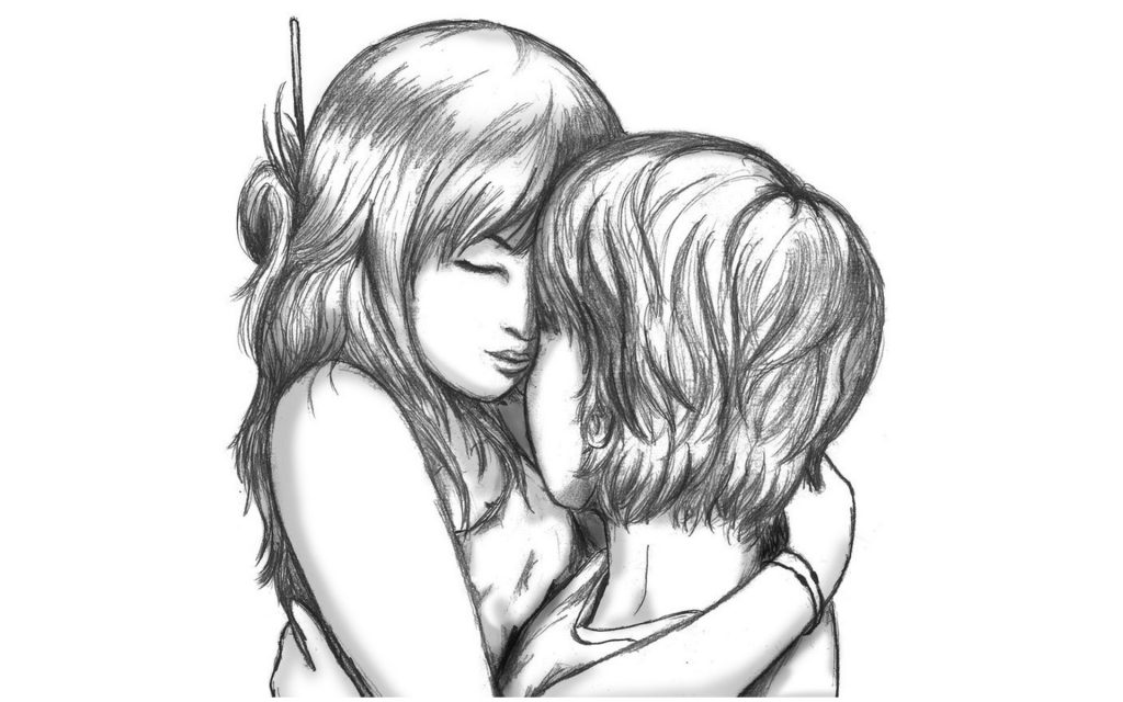 dibujo lapiz amor
