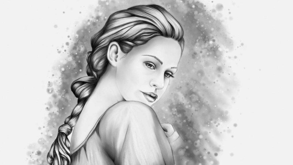 dibujo lapiz mujer