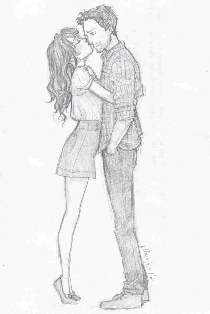 dibujo lapiz pareja