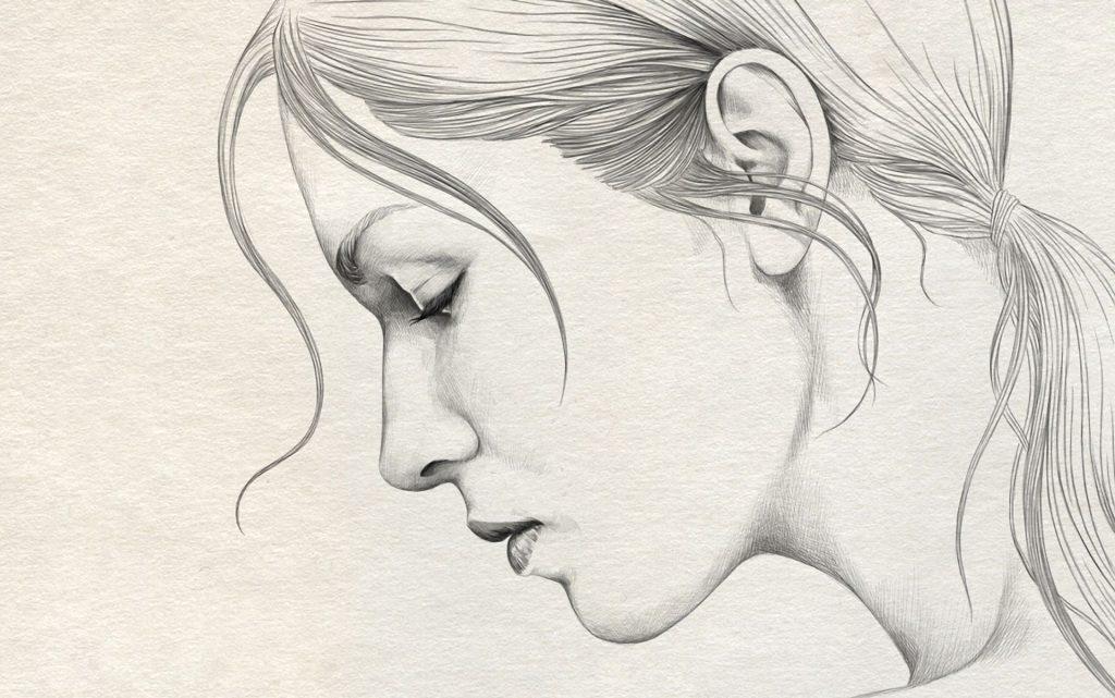 dibujo lapiz rostro mujer