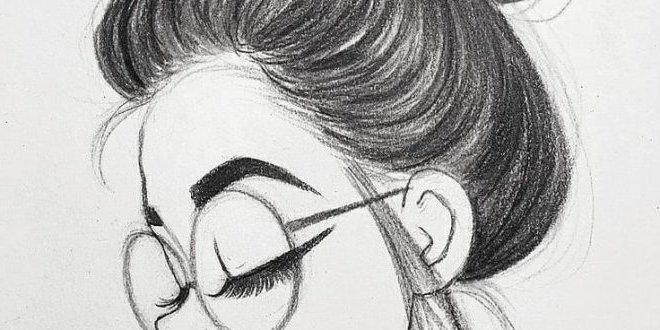 dibujos lapiz chica tumblr